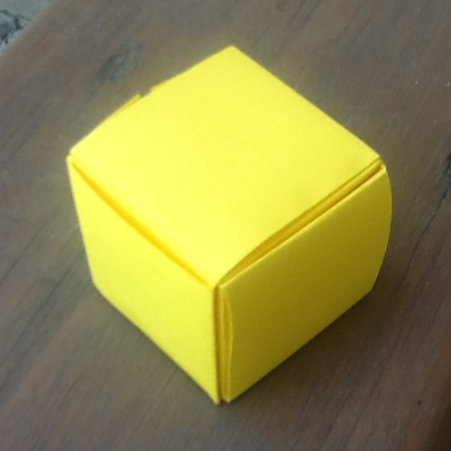 Origami Cube From One Sheet